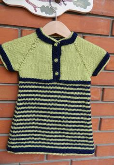 Items similar to Knit Navy Blue And Pistachio Green Striped Short Sleeve Baby Girl Dress Acrylic Polyamide Yarn Baby Buttons on Etsy Knit Baby Sweaters, Pistachio Green, Green Stripes, Baby Knitting, Navy Blue, Girls Dresses, Trending Outfits, Mens Tops, Women