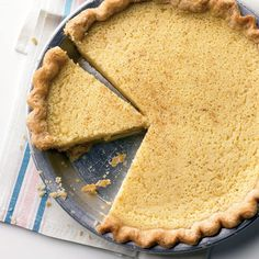 This dessert, from reader Cynthia Bricker of Milton, Massachusetts, features a delicate custard filling with a tangy-sweet flavor. For a homemade pie dough, check out Our Favorite Pie Crust.