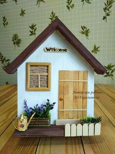 Diy Crafts For Gifts, Diy Home Crafts, Diy Arts And Crafts, Diy Home Decor, Popsicle Stick Crafts, Craft Stick Crafts, Wood Crafts, Fun Crafts, Craft Projects For Kids
