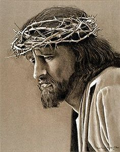 Barbara Taylor Aiken Crown of Thorns in Colored Pencil Pictures Of Christ, Religious Pictures, Jesus Face, Biblical Art, Oil Portrait, Catholic Art, Color Pencil Art, Jesus Is Lord, Sacred Art