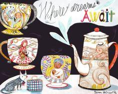 Tea set - Where dreams await - Ellis Island, by Devon Holzwarth