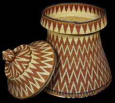 Ethiopian | Lidded Basket Table: Mesob | Museum of Natural and Cultural History
