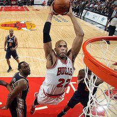 Taj Gibson soars for the jam in the Bulls win over the Jazz (10/03/2012)