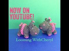 Rainbow Loom skirt for your Hippo - Loomigurumi - Looming With Cheryl. ( Looming WithCheryl ) Loomigurumi Tutorial is Now on YouTube! Charms / figures / gomitas / gomas. Crochet hook only / animals/ amigurumi. Please Subscribe ❤️❤ m.youtube.com/user/LoomingWithCheryl