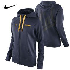 California Golden Bears Nike Therma-FIT Women's College Warp All Time Full Zip Hoody  http://www.calbearsshop.com/cal1011071401.html
