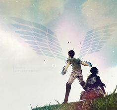 SNK Edit - Eremika Protect Wings of Freedom