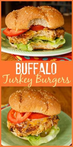 If you love Buffalo wings, you'll enjoy the flavor of these easy Buffalo Turkey Burgers with hot sauce and blue cheese cooked right in!