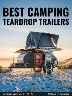Want to get away, but don't have the space or cash for a Sprinter van? Escapod has you covered with their unique teardrop-shaped camping trailer. Teardrop Camper Trailer, Camper Trailer For Sale, Small Trailer, Travel Trailers For Sale, Camper Trailers, Rv Campers, Teardrop Camper For Sale, Teardrop Trailer Interior, Airstream Interior