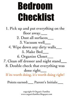 Checklists to help kids help clean EVERY room in the house. We will be using these!