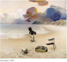 Poul Anker Bech, danish painter - Strandko, 1997
