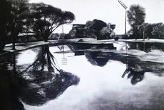 my charcoal portrait of a park in bloem