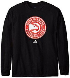 Other Basketball Clothing 158974: Nba Atlanta Hawks Mens Full Primary Logo Long Sleeve Tee, Small, Black BUY IT NOW ONLY: $40.62