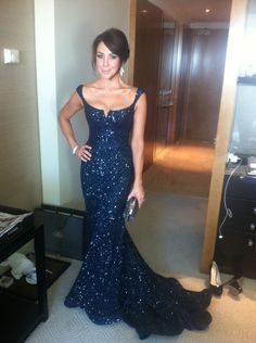 Vestidos 2015 Long Prom Dresses Mermaid Formal Gown Scoop Open Back Sequined Evening Dress Court Train Prom Gown Plus Size Cheap Navy Blue Prom Dresses, Sequin Bridesmaid Dresses, Prom Dresses For Sale, Mermaid Prom Dresses, Pretty Dresses, Beautiful Dresses, Formal Dresses, Dress Prom, Prom Gowns