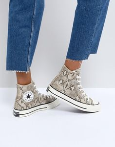 Converse Chuck Taylor All Star 70 High Top Sneakers In Snake Print Converse Style, Outfits With Converse, Converse Shoes, Converse High, Custom Converse, Black Converse, Converse Chuck Taylor All Star, Chuck Taylor Sneakers, Adidas Originals