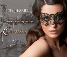 lise charmel, lace masks, soir de venise mask.