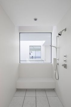 shower with a window.