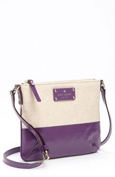 Kate Spade Palm Groves Tenley Crossbody Bag in Purple (natural/ african violet) --- saw this on sale at nordies today! so cute!