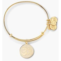 Women's Alex and Ani 'Om' Expandable Wire Bangle ($36) ❤ liked on Polyvore featuring jewelry, bracelets, wire jewelry, alex and ani, expandable bangles, expandable wire bangle and bracelets bangle