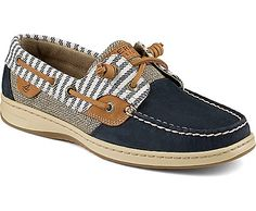 Sperry Top-Sider Bluefish Mariner Stripe 2-Eye Boat Shoe Navy, Size 5M  Women's Shoes from Sperry Top-Sider