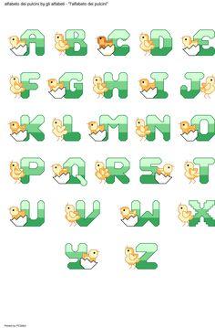 alfabeto dei pulcini