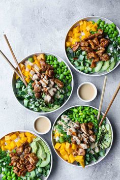 Healthy Recepies, Good Healthy Recipes, Healthy Light Dinners, Healthy Diners, Plats Healthy, Happy Foods, Food Bowl, Asian Recipes, Food Inspiration