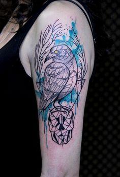 Tattoo by Tyago Compiani - El Cuervo Ink - Cwb