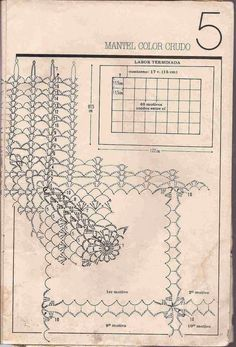 Mantel Color Crudo a Crochet Crochet Art, Crochet Patterns, Crochet Ideas, Granny Pattern, Crochet Blocks, Crochet Tablecloth, Doilies, Needlework, Vintage World Maps
