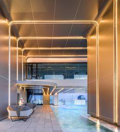 Mall Design, Lobby Design, Store Design, Interior Ceiling Design, Interior Lighting, Commercial Interior Design, Commercial Interiors, Cove Lighting, Linear Lighting