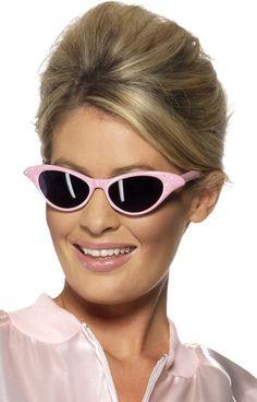 56379c95c4e206 Rock'n'Roll Brille schwarz-pink , günstige Faschings Accessoires & Zubehör  bei