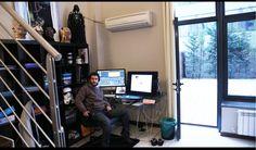 Writer, artist and filmmaker David De Bartolome at his studio in 2014.