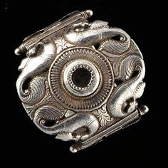 India | Silver hinged (3 part) bracelet from Orissa.  Ref used: Coll. Ghysels, Bracelets, p. 201 | 800 € ~ sold