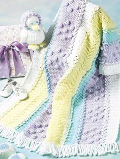 Crochet Knurl Stitch : ... join individually crocheted panels together. #crochet #afghan #throw