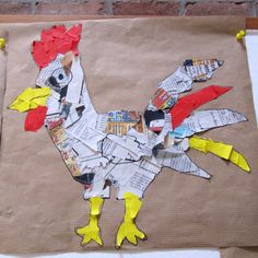 be 25 - ostern - Kunst Chicken Crafts, Chicken Art, Easter Art, Easter Crafts, Arte Elemental, Art For Kids, Crafts For Kids, Newspaper Crafts, Preschool Art