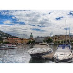 #Como #Italy skyline on a beautiful summer day. Photo by: Jen Genzale