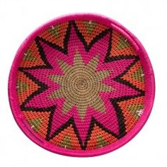 Woven fabric and grass trays- medium diameter