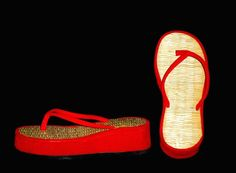 Bamboo Thatched Flip-Flops | 19 Things '90s Girls Used To Wear In The Summer i remember this.!