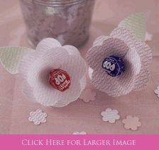 Communion Lollipop Flower Favors, Personalized Favors for First Holy Communion in your choice of colors -Set To Celebrate