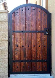 Wood Iron Gates | Iron & Wood Combination Gate Designs