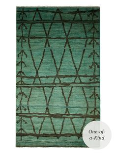"""Moroccan Hand-Knotted Rug (8'6""""x5') from Modern Moroccan: Art & Rugs on Gilt"""