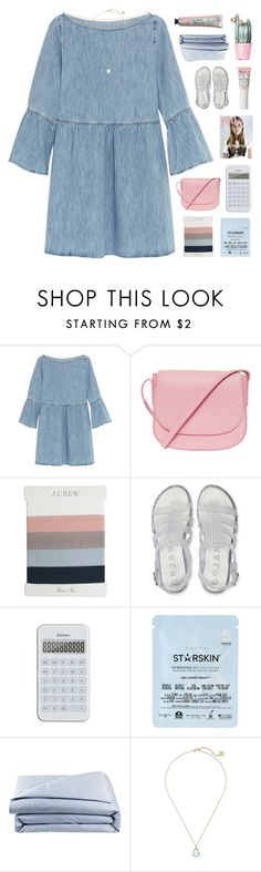 """""""SIMPLE AESTHETIC"""" by emmas-fashion-diary ❤ liked on Polyvore featuring MM6 Maison Margiela, Mansur Gavriel, J.Crew, Aéropostale, Starskin, Frette and Kendra Scott"""