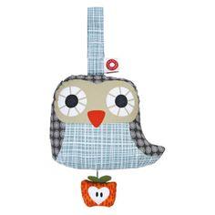 Speldosa Else blå uggla i ekologiska material från Franck Fischer Franck Fischer, Soft Toys Making, Wooden Baby Toys, Green Toys, Gray Owl, Musical Toys, Waldorf Toys, Teething Toys, Montessori Toys