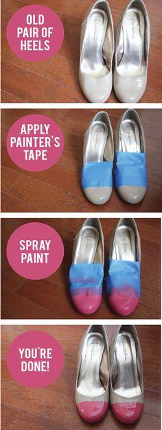 DIY cap toe shoes - cute!