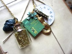 Peter Pan Necklace / J.M. Barrie by MiniatureLiterature on Etsy, $42.00