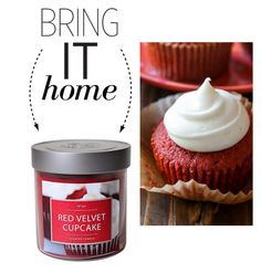 """Bring It Home: Red Velvet Cupcake Candle"" by polyvore-editorial ❤ liked on Polyvore featuring interior, interiors, interior design, home, home decor, interior decorating and bringithome"