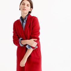 Daphne topcoat in boiled wool