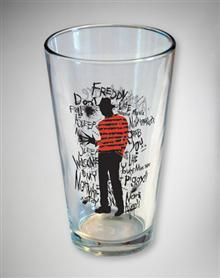 Freddy Kruger pint glass