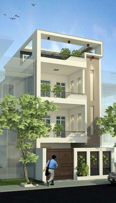 Kiến trúc nhà phố 3 tầng đẹp – KIẾN TRÚC KHÔNG GIAN ĐƯƠNG ĐẠI