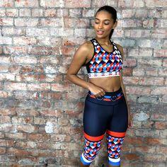 Sports Luxe, Geometric Designs, Capri Leggings, Smiley, Sportswear, Bra, Workout, Retro, Fabric