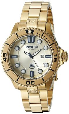 Invicta Women's 19820 Pro Diver Analog Display Swiss Quartz Gold Watch ** You can find out more details at the link of the image.