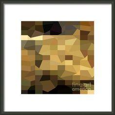Brown Crowd Low Polygon Background Framed Print By Aloysius Patrimonio